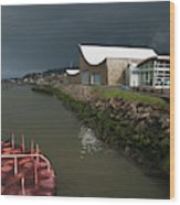 The Columbia River Maritime Museum Sits Wood Print