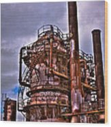 The Compressor Building At Gasworks Park - Seattle Washington Wood Print by David Patterson