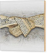 The Constitution Wood Print