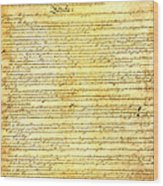 The Constitution Of The United States Of America Wood Print by Design Turnpike