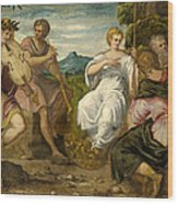 The Contest Between Apollo And Marsyas Wood Print