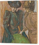 The Conversation Wood Print