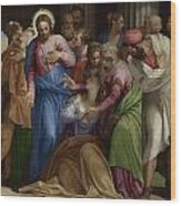 The Conversion Of Mary Magdalene Wood Print