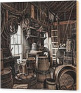 The Coopers Shop - 19th Century Workshop Wood Print