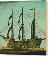 The Copper Ship Wood Print