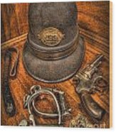 The Copper's Gear - Police Officer Wood Print