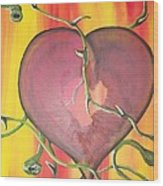 The Core Of My Heart Wood Print