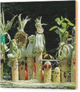 The Corn Family Wood Print