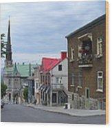 The Corner Of Rue Sainte Claire Overlooking Saint Jean Baptist Church Wood Print