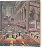 The Coronation Of King William Iv And Queen Adelaide, 1831 Colour Litho Wood Print