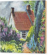 The Cottage Garden Path Wood Print