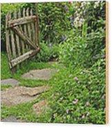 The Cottage Garden Walkway Wood Print