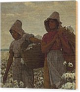 The Cotton Pickers Wood Print