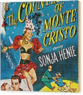 The Countess Of Monte Cristo, Us Poster Wood Print