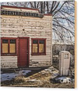 The Country Corner Wood Print