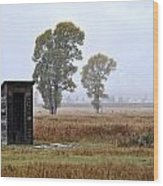 The Country Outhouse Wood Print