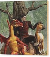 The Courageous Hunters Wood Print
