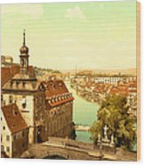 The Court House-bamberg-bavaria-germany - Between 1890 And 1900 Wood Print