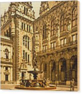 The Court House-hamburg-germany - Between 1890 And 1900 Wood Print
