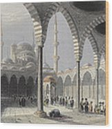 The Court Of The Mosque Of Sultan Wood Print