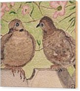 The Courtship Wood Print