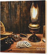 The Cowboy Nightstand Wood Print