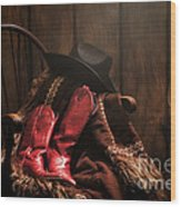 The Cowgirl Rest Wood Print