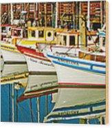 The Crab Fleet Wood Print by Bill Gallagher