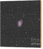 The Crab Nebula, A Supernova Remnant Wood Print