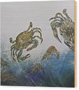 The Crabby Couple Wood Print
