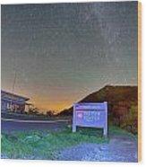 The Craggy Pinnacle Visitors Center At Night Wood Print