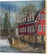 The Cranford Mill Wood Print