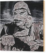 The Creature From The Black Lagoon Wood Print