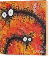 The Creatures From The Drain Painting 31 Wood Print
