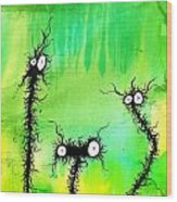 The Creatures From The Drain Painting 4 Wood Print
