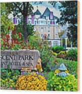 The Crescent Hotel In Eureka Springs Arkansas Wood Print by Gregory Ballos
