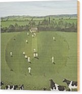 The Cricket Match Wood Print