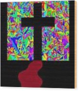 The Cross In Fauvism Wood Print