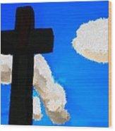 The Cross Of Christ Wood Print