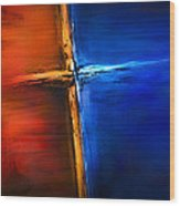 The Cross Wood Print by Shevon Johnson