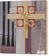 The Cross Wood Print