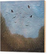 The crows Wood Print