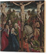 The Crucifixion Dreux Budé Master, Possibly André Dypres Wood Print