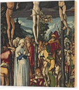 The Crucifixion Of Christ Wood Print