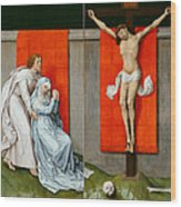 The Crucifixion With The Virgin And Saint John The Evangelist Mourning Wood Print