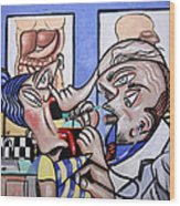 The Cubist Doctor Md Wood Print