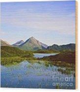 The Cuillin Hills Of Skye In The Western Isles Wood Print