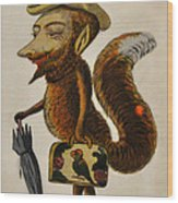 The Cunning Fox Wood Print