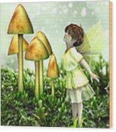 The Curious Fairy Wood Print