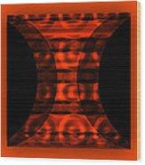 The Curtain - Orange  Wood Print